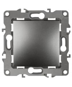 12-1101-12 ЭРА Выключатель, 10АХ-250В, IP20, Эра12, графит (10/100/2500)