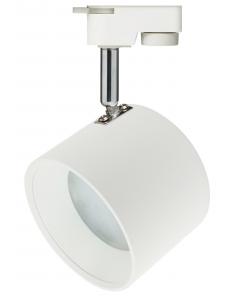 TR15 GX53 WH/SL Светильник ЭРА Трековый под лампу Gx53, алюминий, цвет белый+серебро (30/360)