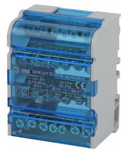 NO-224-15 ЭРА Шины на DIN-рейку в корпусе (кросс-модуль) ШНК 4х7 3L+PEN (74/1554)