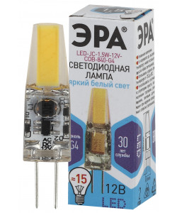 LED JC-1,5W-12V-COB-840-G4 ЭРА (диод, капсула, 1,5Вт, нейтр, G4) (100/1000/24000)