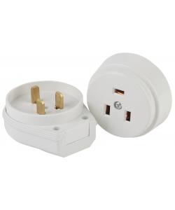 9-802-01 Intro Соединитель электрический 2P+E  (СЭ.РВШ32-002), 32А-250В, ОУ, ПЭТФ (6/36/1080)