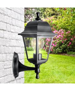 НБУ 04-60-001 черный ЭРА Светильник садово-парковый Леда настенный четырехгранный черный Е27 (8/96)