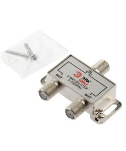 Делитель ТВ ЭРА Simple DS-F-SAT-01 2 ответвления под F разъём 5-2500 МГц