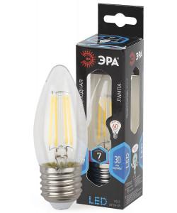 F-LED B35-7W-840-E27 ЭРА (филамент, свеча, 7Вт, нейтр, E27) (10/100/2800)