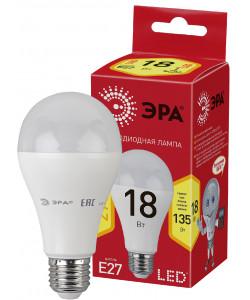 ECO LED A65-18W-827-E27 ЭРА (диод, груша, 18Вт, тепл, E27) (10/100/1200)
