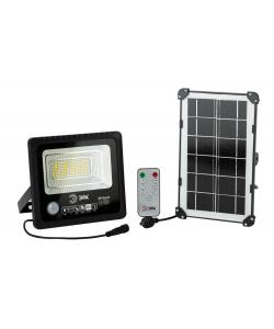 ЭРА Прожектор светодиодный уличный на солн. бат. 50W, 360 lm, 5000K, с датч. движения, ПДУ, IP65 (10