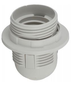 ЭРА Патрон Е27 с кольцом, пластик, белый (50/400/3600)