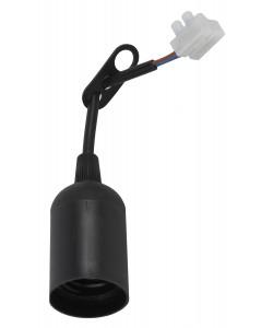 ЭРА Патрон Е27 с клеммной колодкой,пластик,черный (50/200/6000)