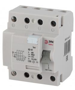 SIMPLE-mod-54 ЭРА SIMPLE Устройство защитного отключения УЗО ВД-40 4P 63А/300мА (электронное) (50/15