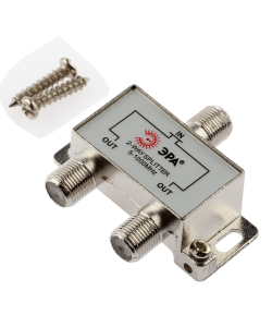 Делитель ТВ ЭРА  D-F-01 2 ответвления под F разъём 5-1000 МГц