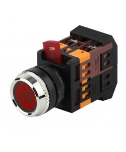 ЭРА Кнопка ABLFS-22 красный d22мм неон/240В 1з+1р (10/400/3200)