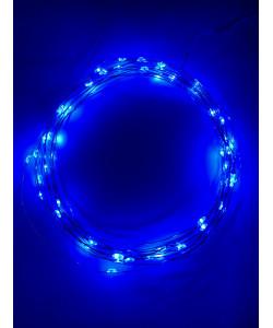 ENIN -5NB ЭРА Гирлянда LED Нить 5 м синий свет, АА (100/2500)