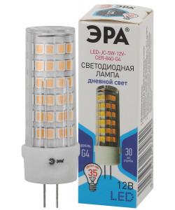 LED JC-5W-12V-CER-840-G4 ЭРА (диод, капсула, 5Вт, нейтр, G4) (20/500/21000)