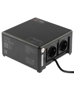 Стабилизатор напряжения ЭРА  CНК-2000-УЦ компактный универсальный, 140-260В/220В, 2000ВА