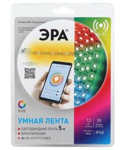 ЭРА Комплект светодиодной ленты 5050-30-RGB-IP65-Wifi-5m (12V) (4/32/192)
