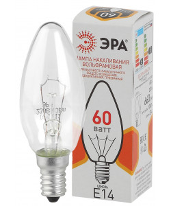ЭРА ДС (B36) свечка 60Вт 230В E14 цв. упаковка (100/6000)
