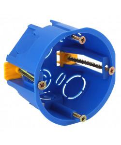 ЭРА Коробка установочн. КУП 68х45мм для полых стен саморез. пласт. лапк. синяя IP30 (200/3000)