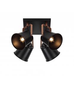 Светильник настенно-потолочный спот Rivoli Acuto 7015-704 4 х Е27 40 Вт поворотный