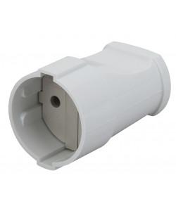 Rx1-W ЭРА Розетка кабельная б/з прямая 10A белая (24/384/4608)