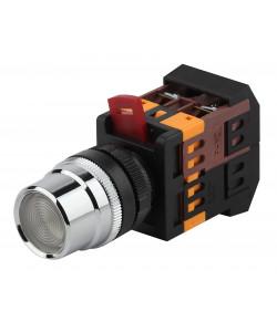 ЭРА Кнопка ABLF-22 белый d22мм неон/240В 1з+1р (10/400/3200)