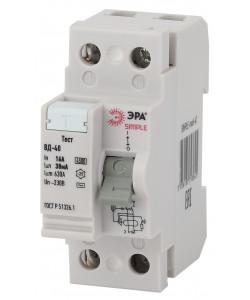 SIMPLE-mod-41 ЭРА SIMPLE Устройство защитного отключения УЗО ВД-40 2P 16А/30мА (электронное) (100/24