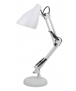 ЭРА наст.светильник N-123-Е27-40W-W белый (12/96)