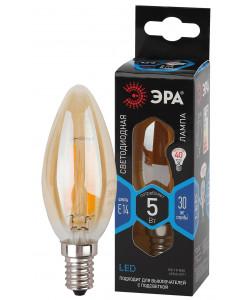 F-LED B35-5W-840-E14 gold ЭРА (филамент, свеча золот, 5Вт, нетр, E14) (10/100/5000)