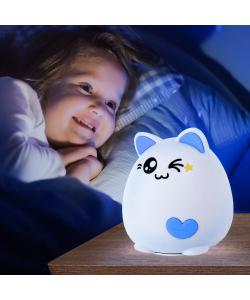 ЭРА светильник-ночник NLED-413-1W-BU белый с синим (30/60/360)