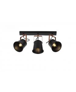 Светильник настенно-потолочный спот Rivoli Acuto 7015-703 3 х Е27 40 Вт поворотный