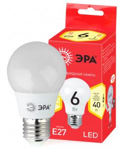 ECO LED A55-6W-827-E27 ЭРА (диод, груша, 6Вт, тепл, E27) (10/100/2000)