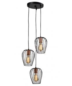Светильник подвесной (подвес) Rivoli Atena 5063-203 3 х E27 40 Вт лофт - кантри
