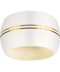 OL13 GX53 WH/GD Подсветка ЭРА Накладной под лампу Gx53, алюминий, цвет белый/золото (40/1200)