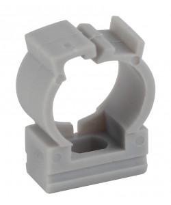 ЭРА Крепеж-клипса (серый) для трубы d 20мм с фиксатором (100/1000/36000)