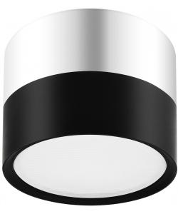 OL7 GX53 BK/CH Подсветка ЭРА Накладной под лампу Gx53, алюминий, цвет черный+хром (40/1440)