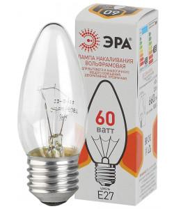 ЭРА ДС (B36) свечка 60Вт 230В E27 цв. упаковка (100/6000)