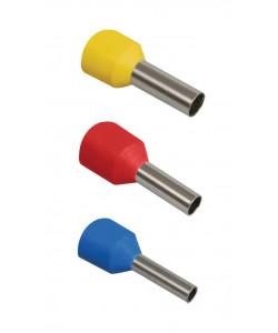 NO-570-10 ЭРА Наконечник-гильза Е1012 1мм2 с изолированным фланцем (темно-красный) (100 шт) (50/1000