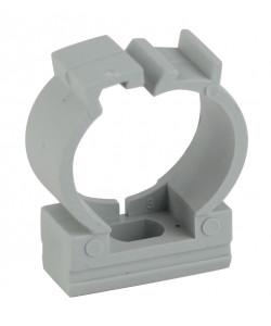 ЭРА Крепеж-клипса (серый) для трубы d 25мм с фиксатором (50/500/25000)