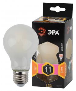F-LED A60-11W-827-E27 frost ЭРА (филамент, груша мат., 11Вт, тепл, Е27) (10/100/1500)
