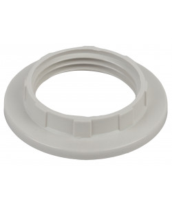 ЭРА Кольцо для патрона E14, пластик, белое (100/1000/24000)