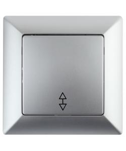 4-103-03 Intro Переключатель, 10А-250В, СУ, Solo, алюминий (10/200/2400)