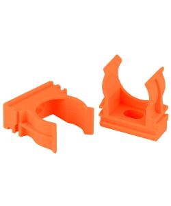 Крепеж клипса для труб ЭРА  CLIP-25-OR d 25мм оранжевая