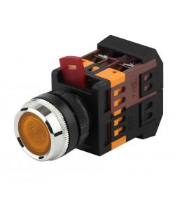 ЭРА Кнопка ABLFS-22 желтый d22мм неон/240В 1з+1р (10/400/3200)