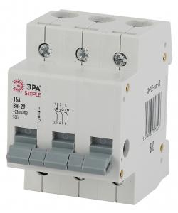 SIMPLE-mod-66 ЭРА SIMPLE Выключатель нагрузки 3P 63А ВН-29 (4/60/1200)