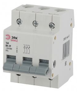 SIMPLE-mod-65 ЭРА SIMPLE Выключатель нагрузки 3P 40А ВН-29 (4/60/1680)