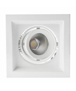 Светильник карданный встраиваемый ЭРА  SKD-11-36-40K-W20 20Вт 4000K 1800Лм 150х150х110