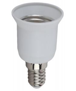 ЭРА Переходник E14-E27, пластик, белый (50/400/9600)