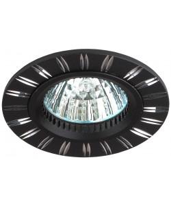KL33 AL/BK Светильник ЭРА алюминиевый MR16,12V/220V, 50W черный/хром (50/2400)