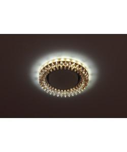 DK LD20 TEA/WH Светильник ЭРА декор cо светодиодной подсветкой Gx53, прозрачный (30/720)
