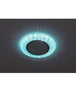 DK LD22 BL/WH Светильник ЭРА декор cо светодиодной подсветкой Gx53, голубой (50/800)