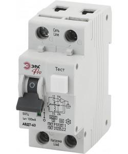 ЭРА Pro Автоматический выключатель дифференциального тока NO-901-89 АВДТ 63 C40 100мА 1P+N тип A (90